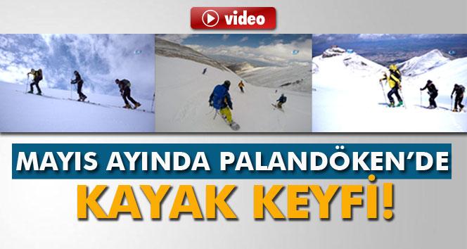 Palandöken'de Mayıs ayında kayak keyfi