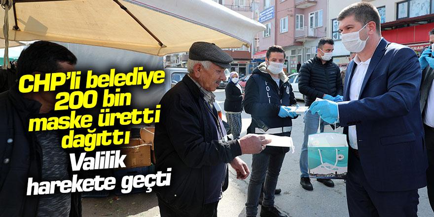 CHP'li belediye maske üretti, dağıttı... Valilik harekete geçti!