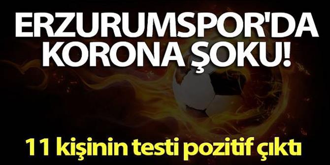 Erzurumspor'da corona virüsü şoku