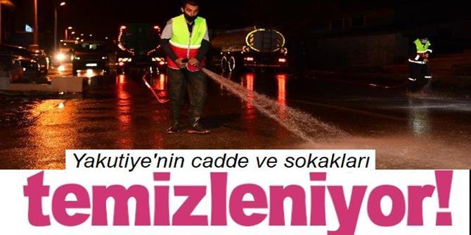 Erzurum'da cadde ve sokaklar sabunlu suyla yıkanıyor