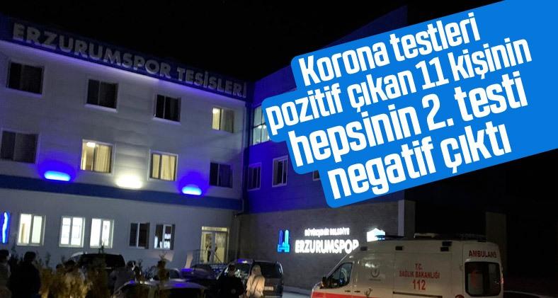 Erzurumspor'da 11 kişinin ikinci korona virüs testi negatif çıktı