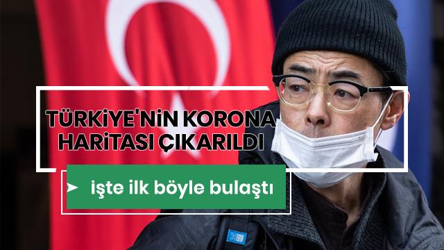 Türkiye'nin ilk Covid-19 haritası çıkarıldı: Hastalarının yüzde 54,7'si erkek