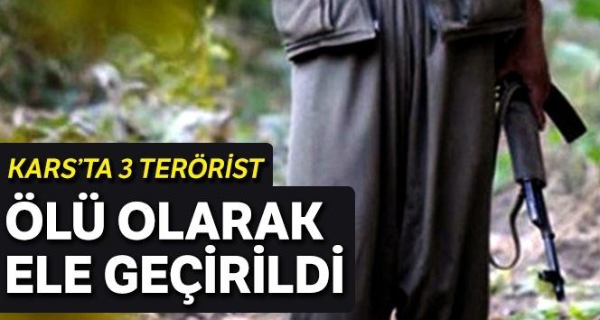 Kağızman'da 3 PKK'lı terörist ölü olarak ele geçirildi