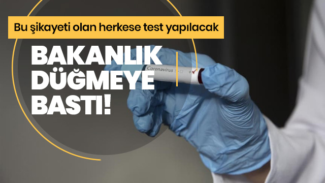 Üşüttüm diyene koronavirüs testi yapılacak!