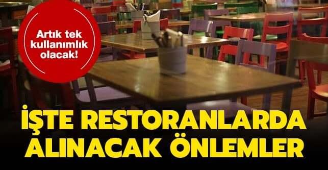 Koronavirüs sonrası restoranlarda yeni dönem başlıyor