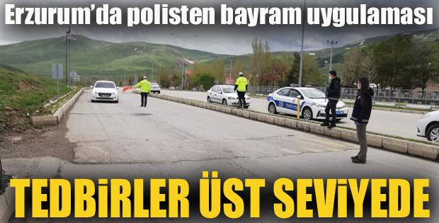 Erzurum'da polisten bayram uygulaması