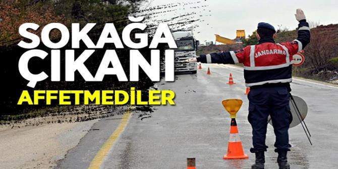 Erzurum'da sokağa çıkanlara ceza yağdı