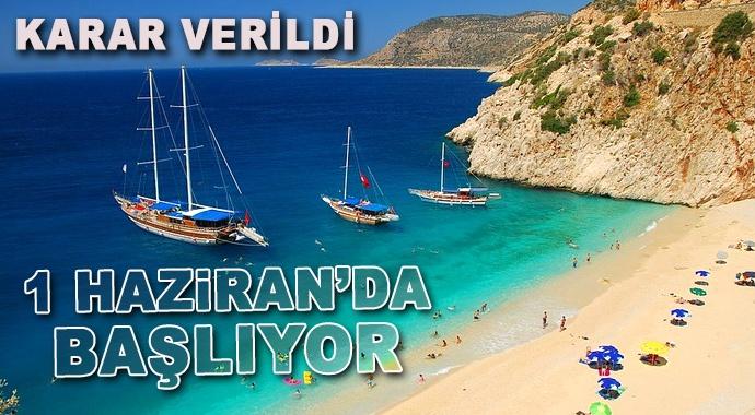 Yat turizmi 1 Haziran'da başlıyor
