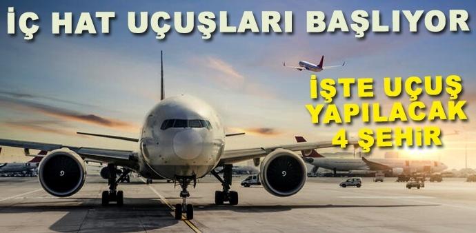 1 Haziran'da iç hat uçuşları başlayacak