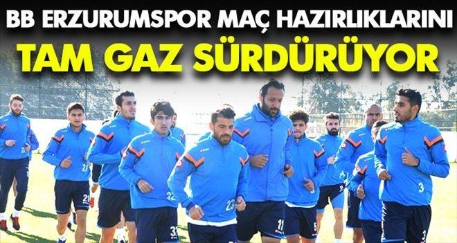 Erzurumspor hazırlıklarını sürdürüyor