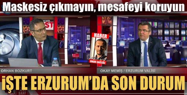 Erzurum'da vaka sayısı arttı