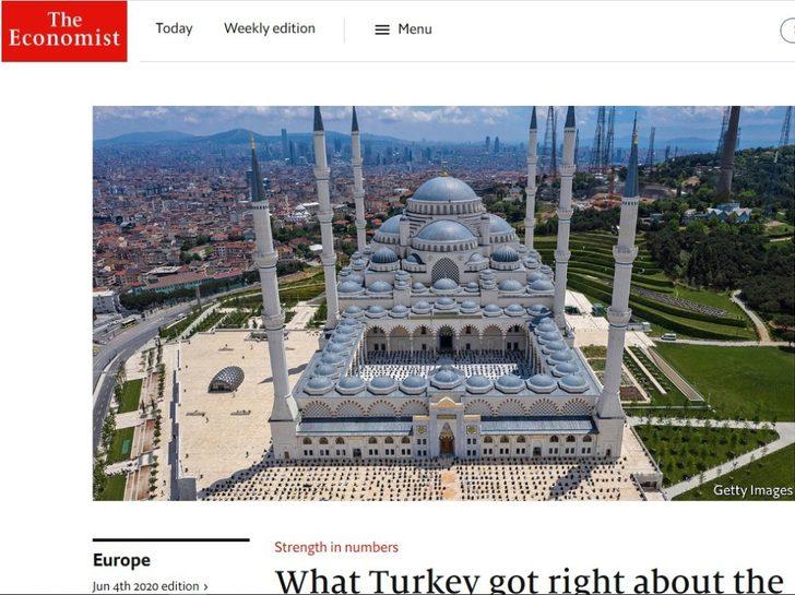 Economist dergisinden Türkiye'nin koronavirüsle mücadelesine övgü
