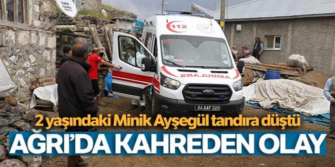 Tandıra düşen minik Ayşegül'de hayatını kaybetti