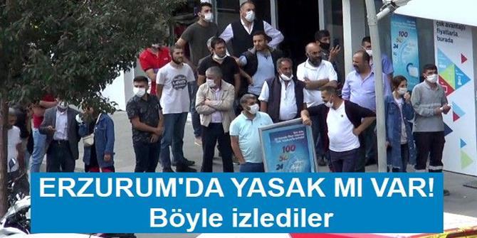 Erzurum'da şüpheli paketin patlamasını böyle izlediler