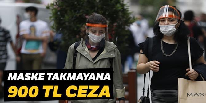 Maske takmayana 900 TL para cezası