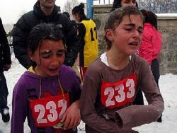 Erzurum'da donduran yarış
