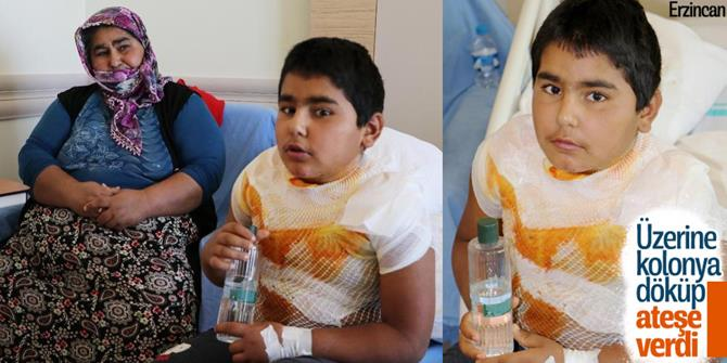 Erzincan'da üzerine kolonya döküp kendini yaktı
