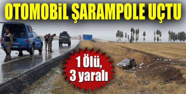 Erzurum'da otomobil şarampole uçtu: 1 ölü, 3 yaralı