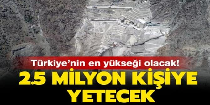 Yusufeli Barajı'nın gövde yüksekliğinde 214 metreye ulaşıldı
