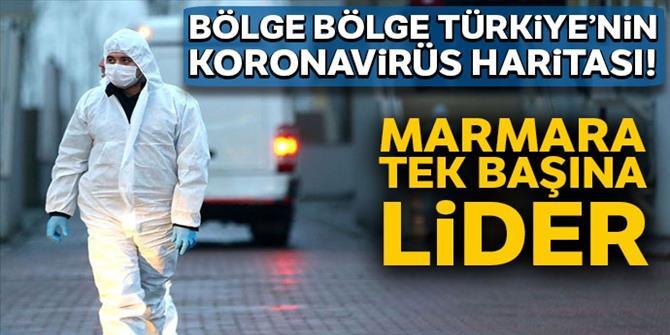 Bölge bölge Türkiye'nin koronavirüs haritası!
