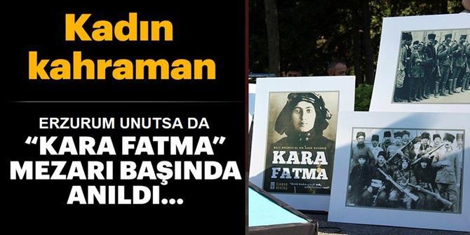 Erzurumlu Üsteğmen Kara Fatma mezarı başında anıldı