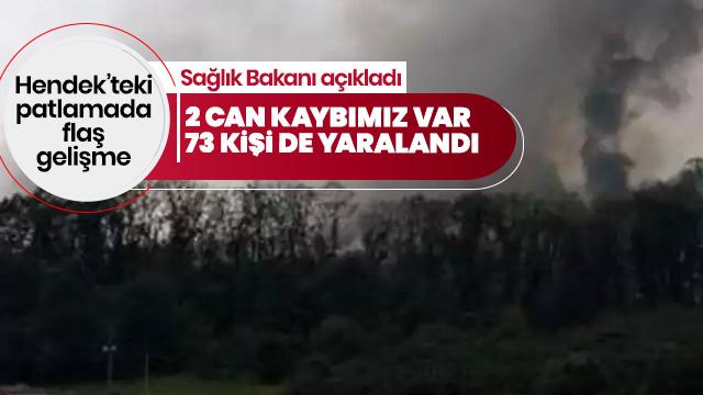 . Sakarya'daki patlamada 2 kişi hayatını kaybetti 73 yaralımız var