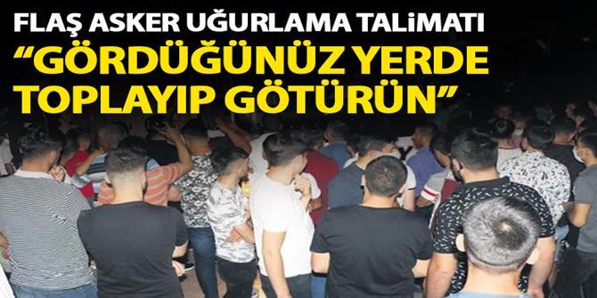 Erdoğan'dan asker uğurlama törenleri için talimat