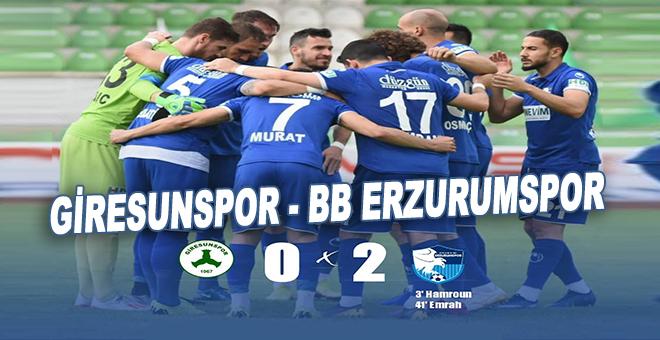 Giresunspor: 0 - BB Erzurumspor: 2