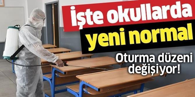 İşte okullarda yeni normal! Oturma düzeni değişiyor