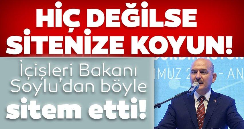 İçişleri Bakanı Süleyman Soylu Kadın STK'lara böyle sitem etti: