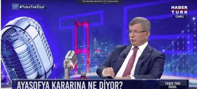 Gelecek Partisi Genel Başkanı Ahmet Davutoğlu Ayasofya kararını değerlendirdi