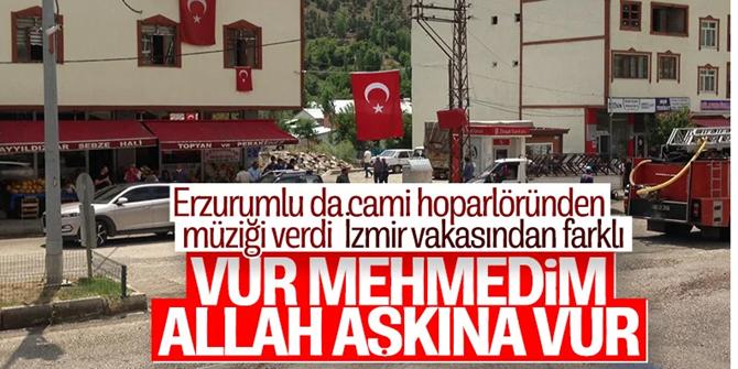 Erzurum'da Mehmetçiğe cami hoparlöründen ezgili destek