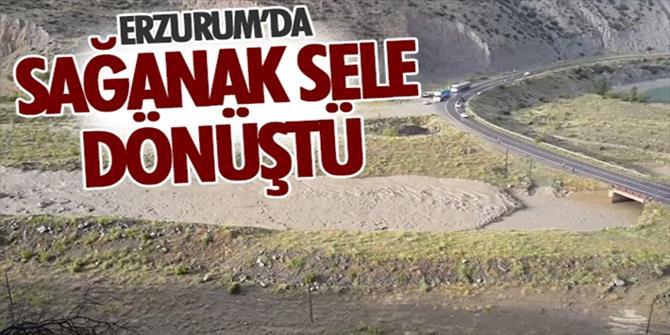 Erzurum'da yağışlar etkisini sürdürüyor