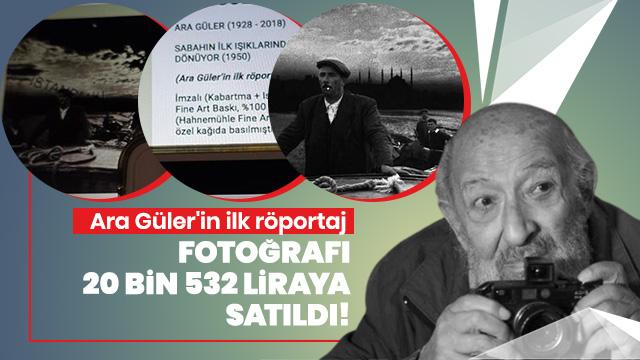 Ara Güler'in ilk röportaj fotoğrafı 20 bin 532 liraya satıldı