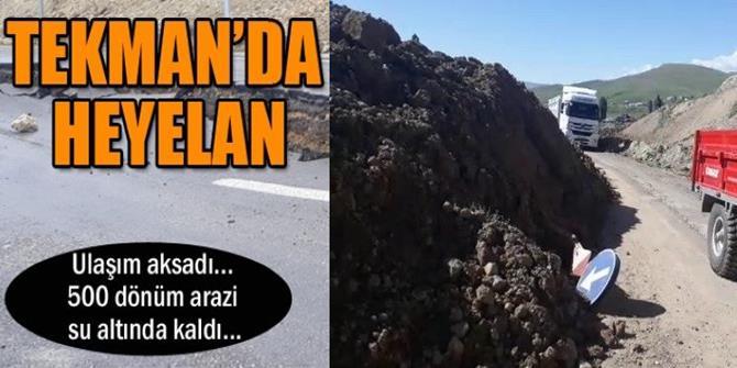 Tekman - Erzurum Palandöken yolunu heyelan vurdu
