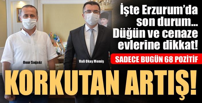 Erzurum'da korkutan artış