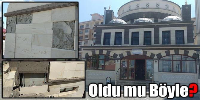 Erzurum'da bu cami yeni yapıldı ama!