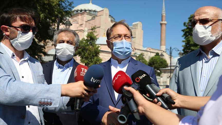 Diyanet İşleri Başkanı Erbaş: 3 imam ve 5 müezzin arkadaşımızı inşallah Ayasofya Camisi'ne atıyoruz