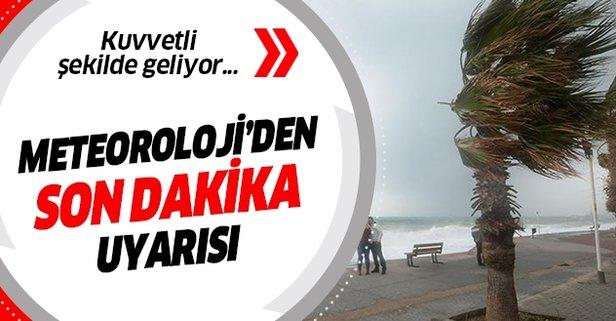 Meteorolojiden Erzurum için kuvvetli rüzgar uyarısı