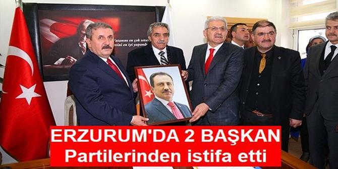 Oltu ve Tortum Belediye başkanları Büyük Birlik Partisinden istifa etti
