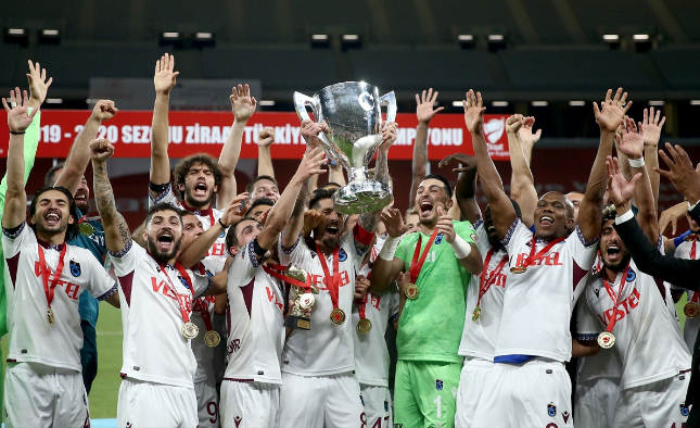 Trabzonspor 10 yıllık hasreti bitirdi