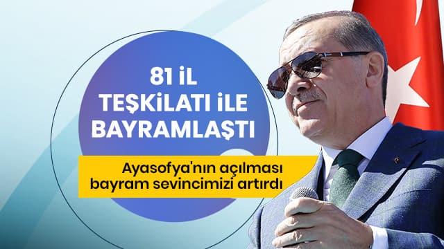 Erdoğan: Büyük kongremizi yeni bir şahlanış miladı haline dönüştürmek istiyoruz