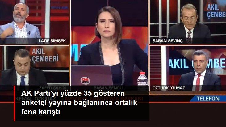 Ünlü anketçi telefonla bağlanınca CNN Türk canlı yayınında ortalık karıştı