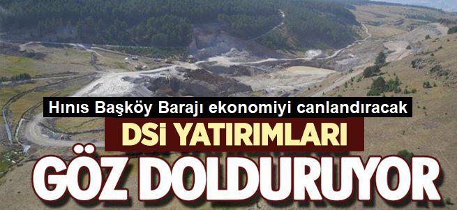 Hınıs Başköy Barajı, tamamlanıyor