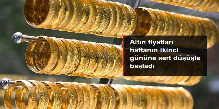 Altın fiyatları haftanın ikinci gününe sert düşüşle başladı