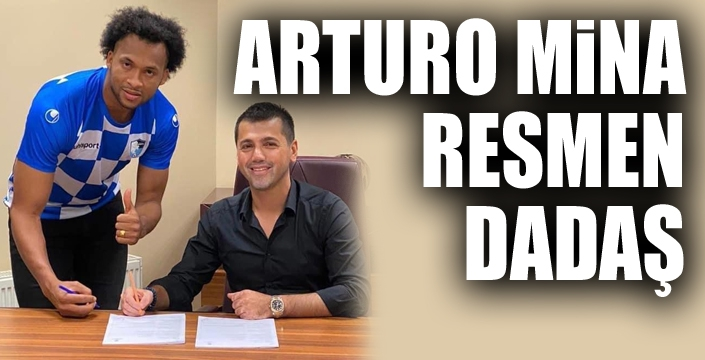 Arturo Mina resmen Erzurumspor'da...