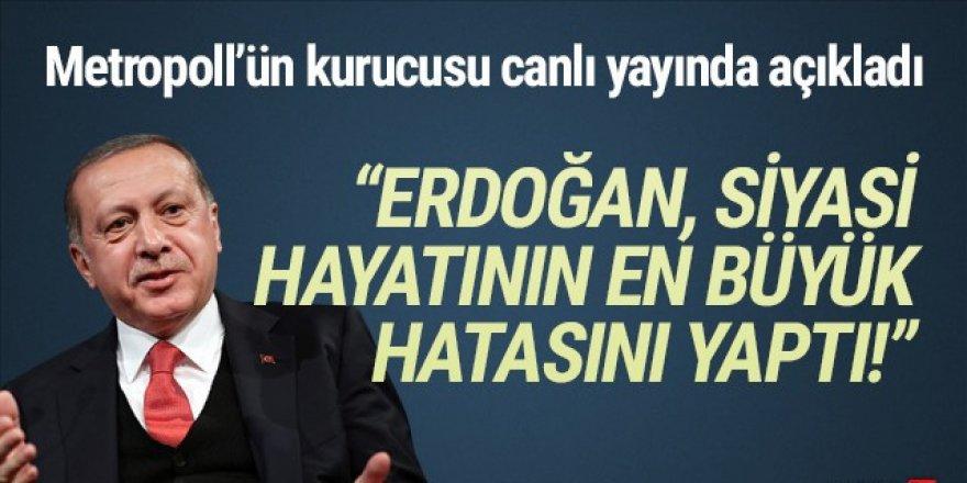 ''Erdoğan siyasi hayatının en büyük hatasını yaptı''