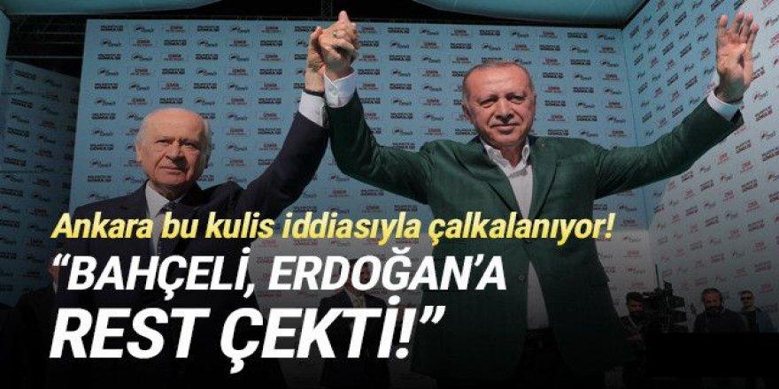 Bahçeli, Erdoğan'a rest mi çekti ?