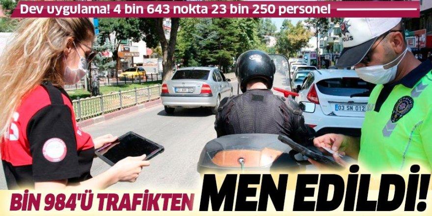 4 bin 643 noktada eş zamanlı araç ve motosiklet uygulaması: 1.984'ü trafikten men edildi