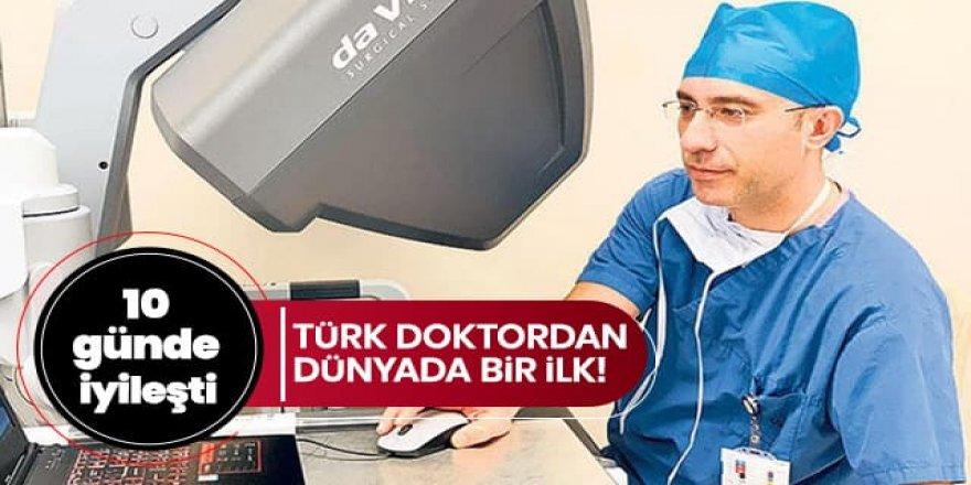 Türk doktordan dünyada bir ilk: 10 günde iyileşti